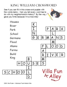 KING WILLIAM CROSSWORD ANSWER KEY
