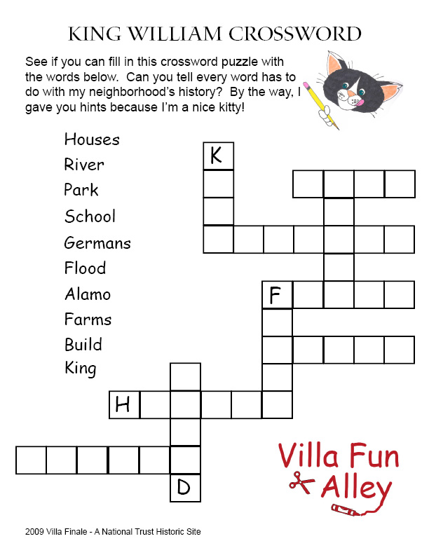Crossword+Puzzles+First+Graders+Printable Boo Boo's King William ...